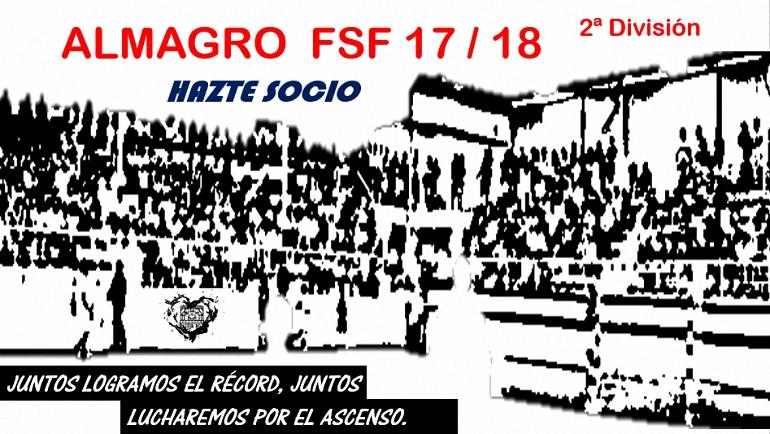 Hazte Socio del ALMAGRO FSF Temporada 2017/2018