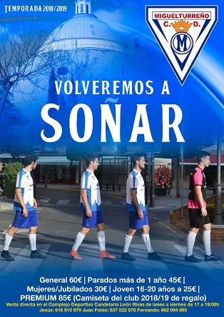 Campaña Captación de Socios CD MIGUELTURREÑO Temporada 2018/2019