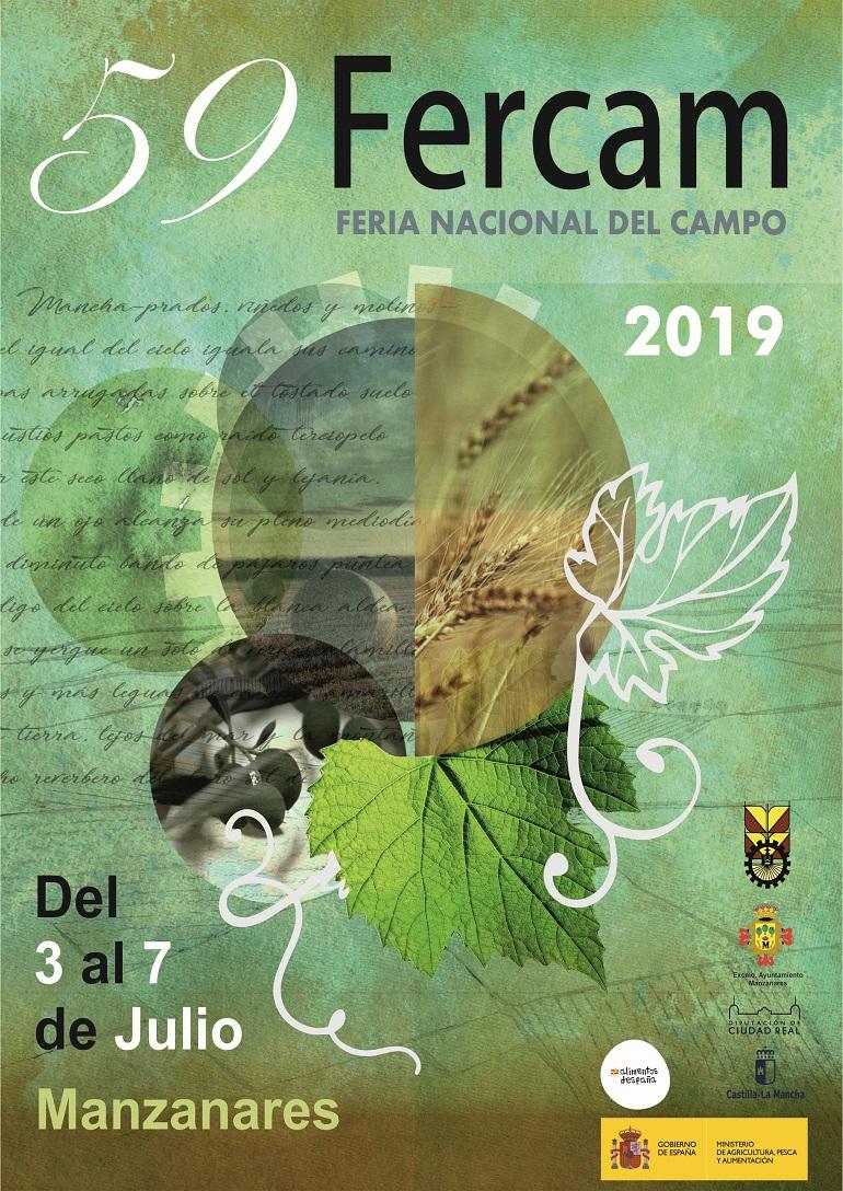 59 Feria Nacional del Campo - FERCAM 2019 - Manzanares, Del 3 al 7 de Julio