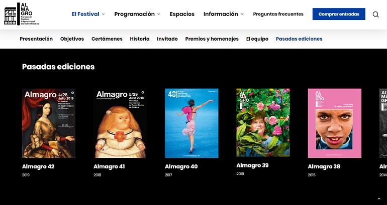 Nueva web del Festival Internacional de Teatro Clásico de Alamgro