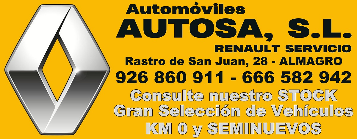 Automóviles AUTOSA, SL - Renault Servicio - ALMAGRO - Gran Selección de Vehículos KM 0 y SEMINUEVOS